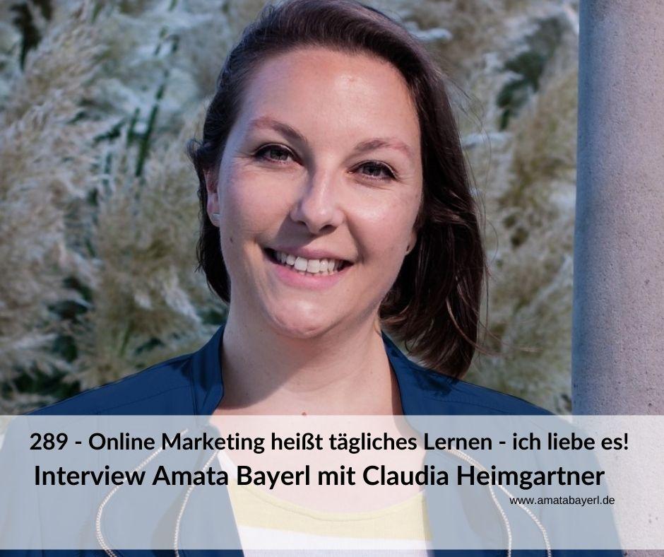 Amata Bayerl im Interview mit Claudia Heimgartner